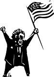 Angry Voter waving flag
