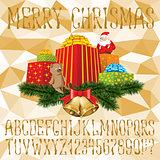 Christmas vector alphabet
