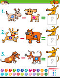 subtraction educational activity for kids