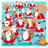 christmas santa claus group cartoon