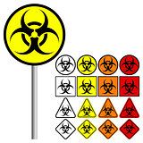 Biological Hazards ( Biohazard ) Symbol Icon