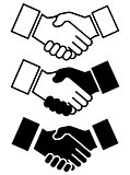 Handshake Icon for Business, Friendship... etc