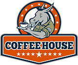 Army Sergeant Donkey Coffee House Cartoon