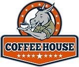 Army Sergeant Donkey Coffee House Cartoon