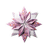 Money Origami snowflake