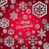 White paper christmas snowflake. EPS 10