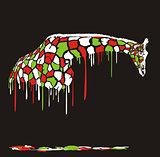 Vector - Giraffe painting