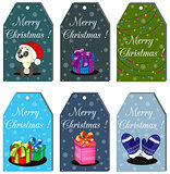Christmas Gift Tags and Labels.  illustration with lettering