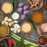 Healthy Herb and Spice Selection
