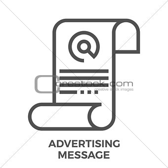 Advertising message icon