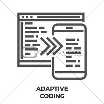 Adaptive Coding Line Icon