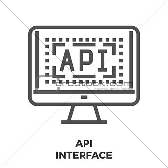 API Interface Line Icon