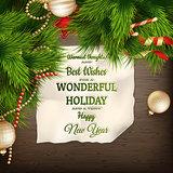 Holidays greeting and Christmas card. EPS 10