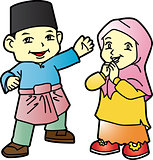 Melayu children in Patani-03, cartoon