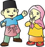 Melayu children in Patani-03, cartoon