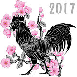 Rooster with blossom