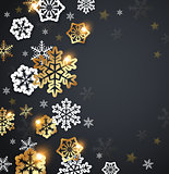 Black Christmas background