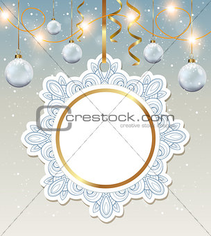 Christmas banner and decorations