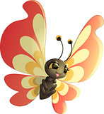 Grunge rainbow butterfly