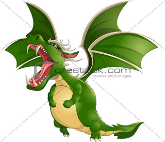 Beautiful dragon on a white background