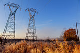 High Voltage Electric Tower. Power concept.