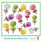 colorful lollipops in hand drawn style game