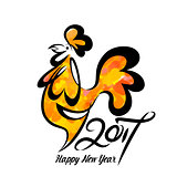 Rooster chinese new year design graphic