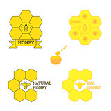 Set of honey labels