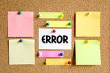 Error text concept