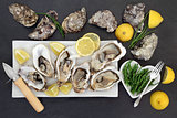 Oysters and Samphire