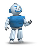 Friendly robot ready to serve 3d