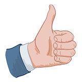 hand sign like