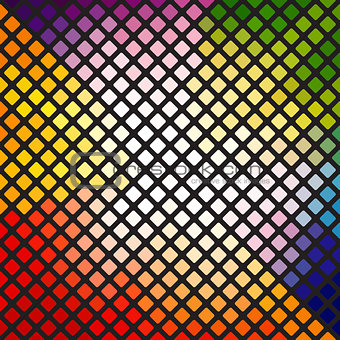Bright multi-colored mosaic