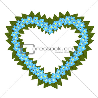 Forget me not flower heart