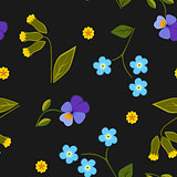 Seamless pattern summer flower