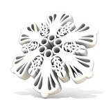 Ornamental, white snowflake, 3D