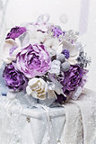 Beautiful purple bridal bouquet