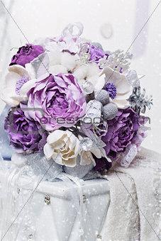 Beautiful purple bridal bouquet