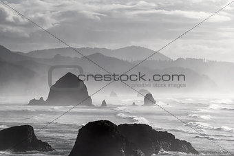 Cannon Beach Black and White Portrait