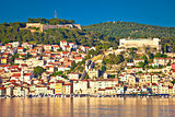 Sibenik UNESCO world heritage town waterfront view