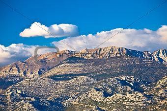 Paklenica national park on Velebit mountain view