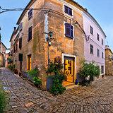 Groznjan medieval village cobbled street