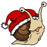 Happy Christmas Snail