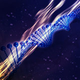 3D DNA strand medical background