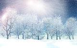 3D winter landscape