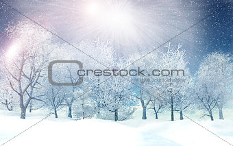 3D winter landscape