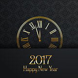 Happy New Year clock design
