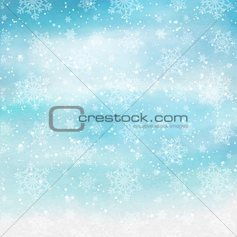 Watercolor Christmas snowflakes