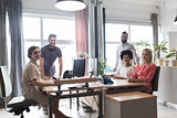 happy creative team in office