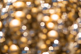 golden christmas decoration or garland lights